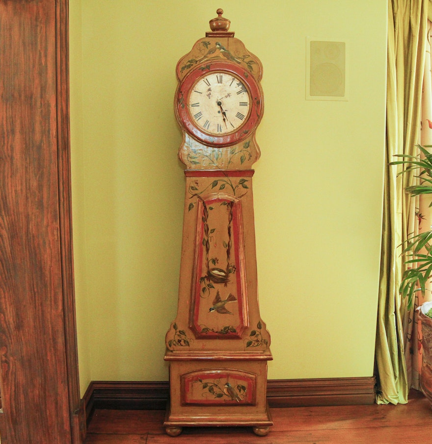 Swedish Clock Reproduction Reproduction Swedish Grandfather Clock Ebth
