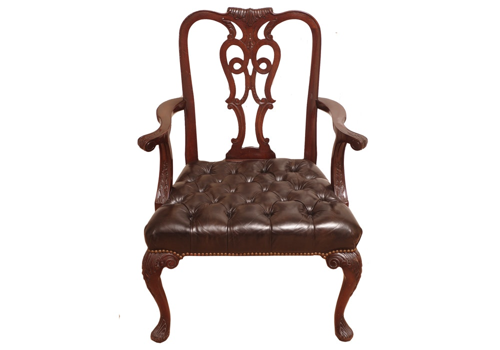 Henredon Chippendale Style Executive Desk Chair