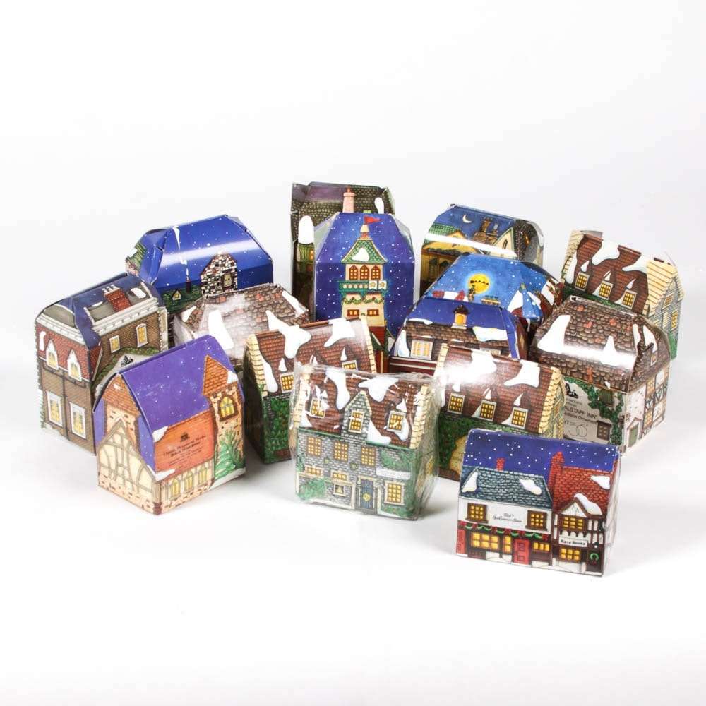Collection of Department 56 Holiday Ornaments in Boxes