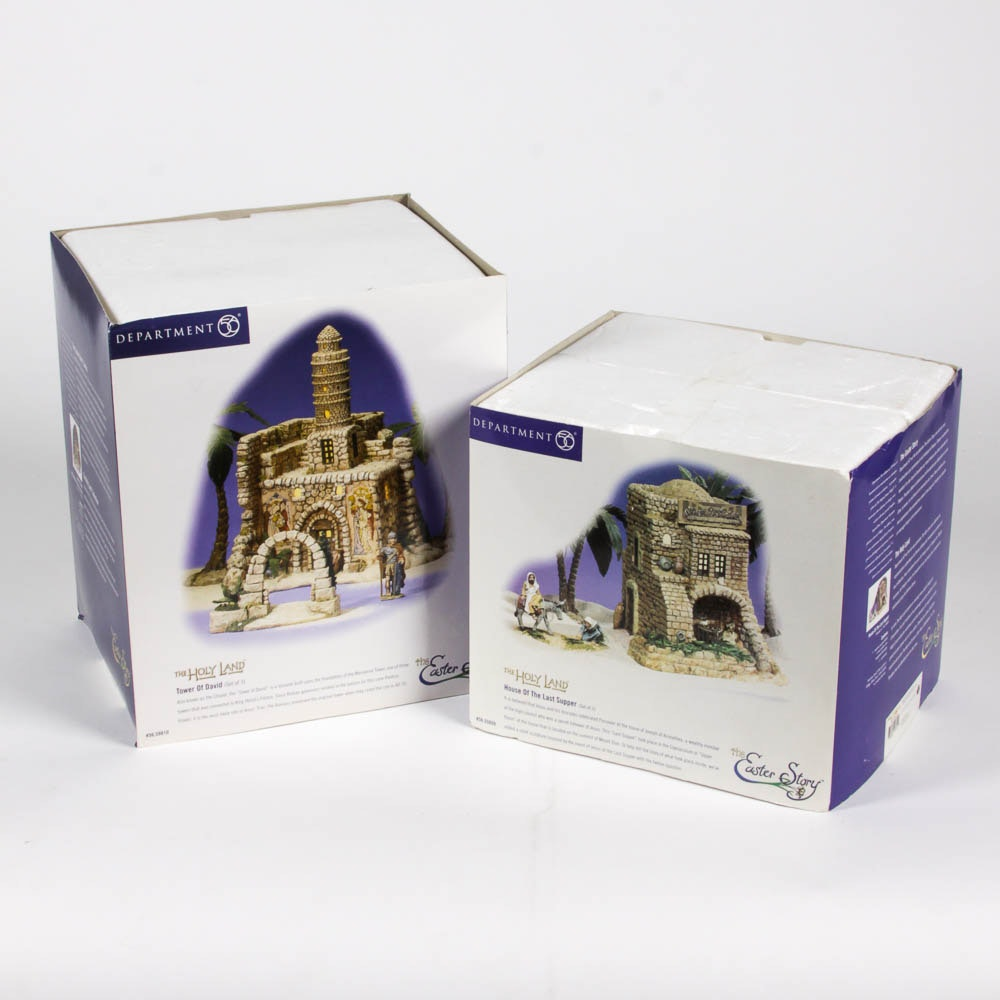 "Pair of Department 56 ""Holy Land - The Easter Story"" Figurines"