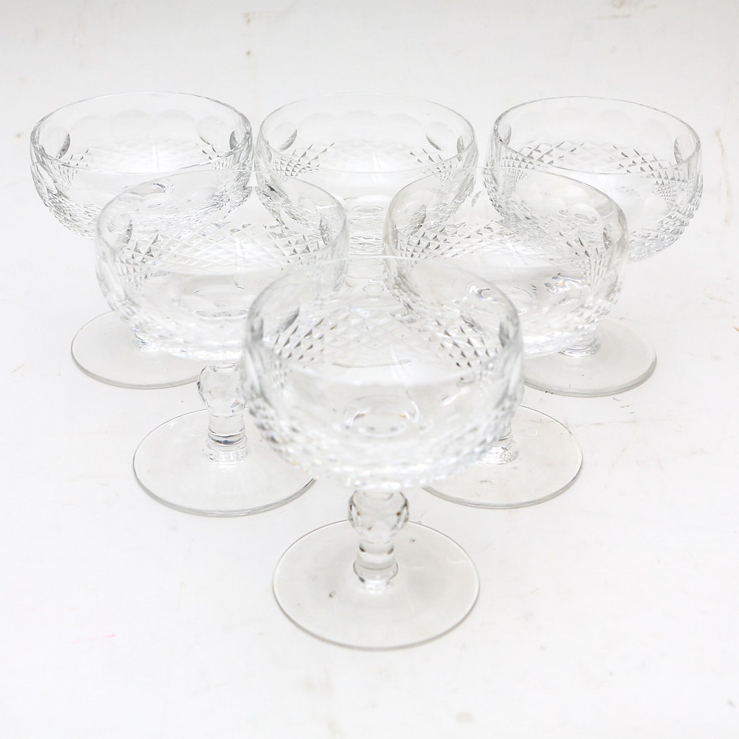 Set of Waterford Champagne Glasses