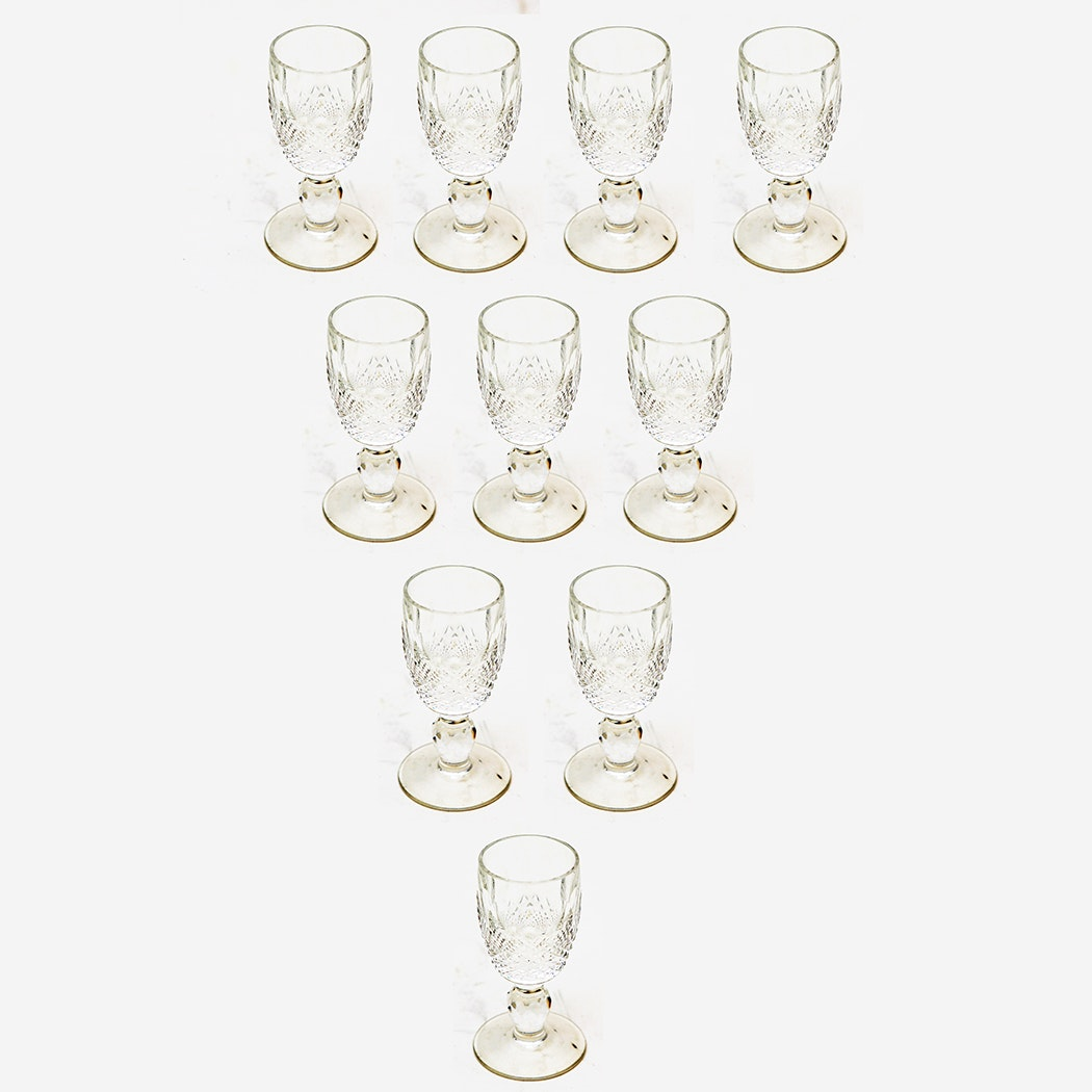 Set of Waterford Crystal Cordial Glasses