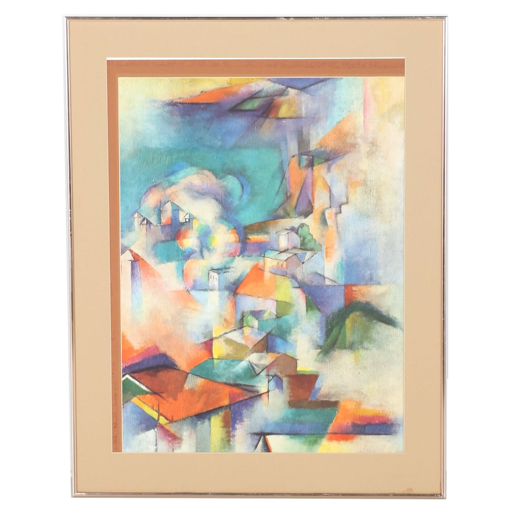 Giclee Print of Abstract Village After Stanton Macdonald-Wright