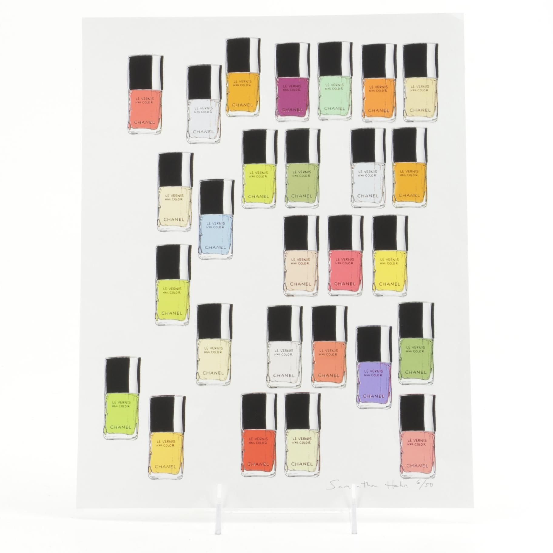 "Samantha Hahn Limited Edition Serigraph ""My Favorite Chanel Polishes"""