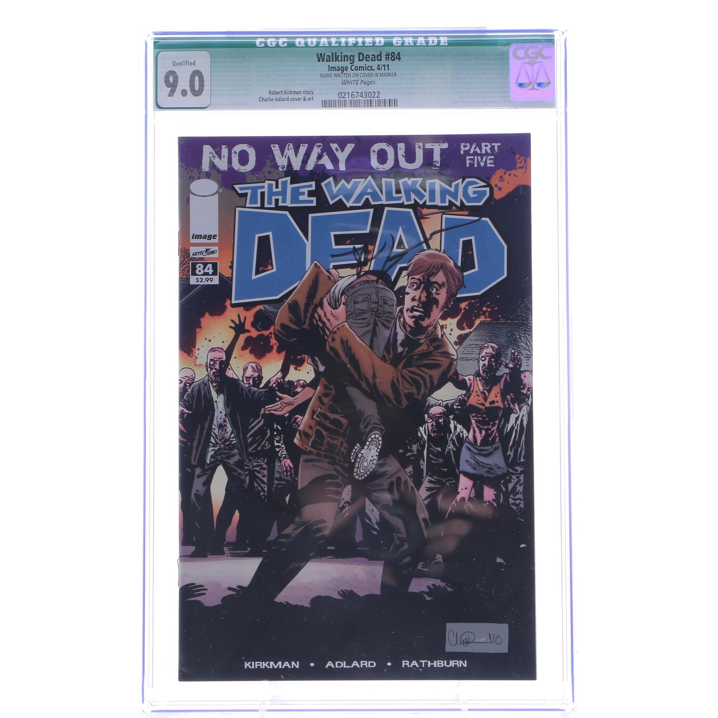 """Robert Kirkman Signed and Graded """"The Walking Dead"""" Comic #84"""