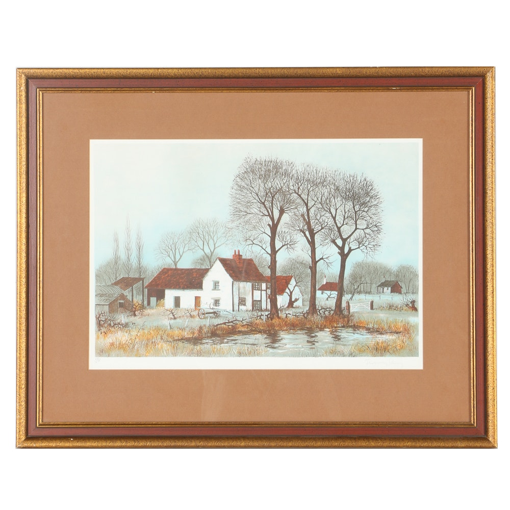 Jeremy King Limited Edition Lithograph on Paper of Country Scene