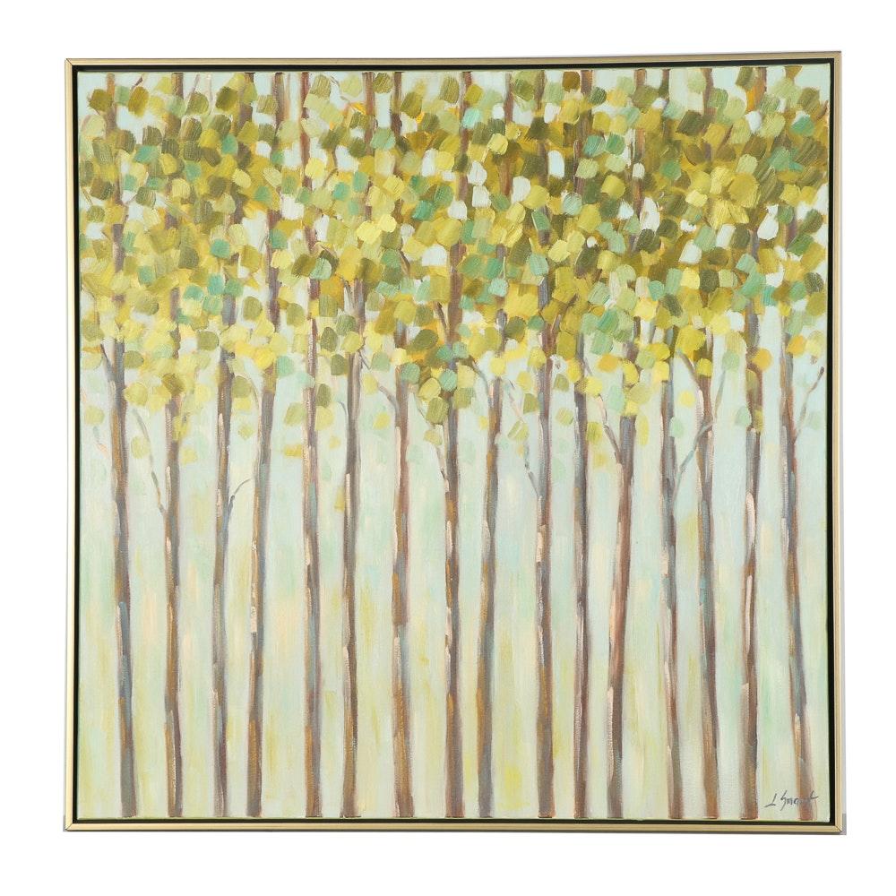 L. Smart Original Oil Painting of Trees