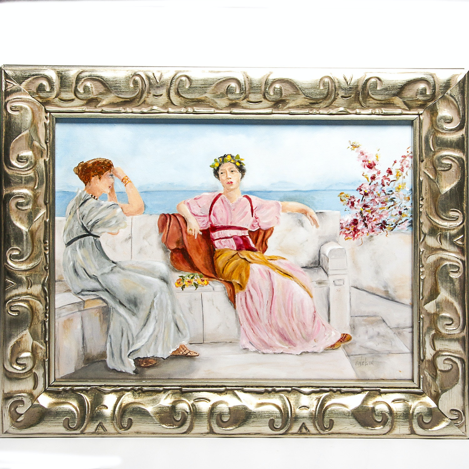 Framed Oil Painting on Canvas by Betty Nelson