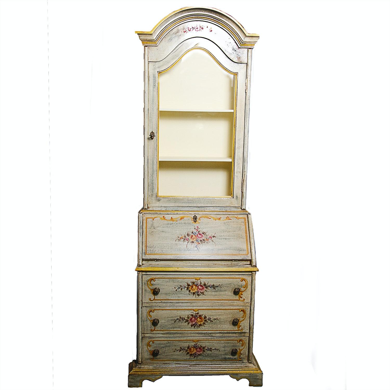 Italian Rococo Style Cabinet Over Secretary