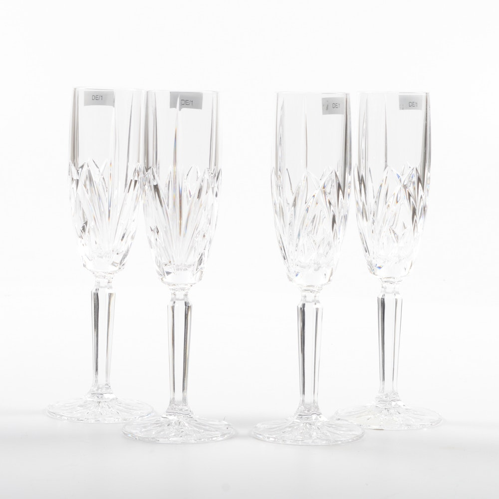 """Marquis by Waterford Crystal """"Brookside"""" Champagne Flutes"""