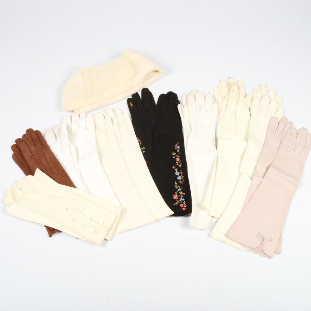 Vintage Ladies Dress Glove Collection Featuring  Chevreau