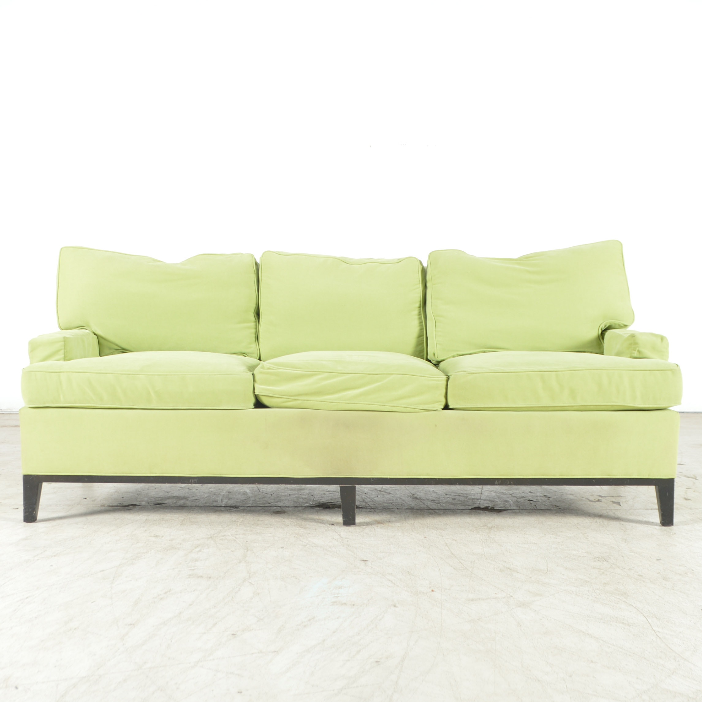 Chartreuse Color Upholstered Sofa