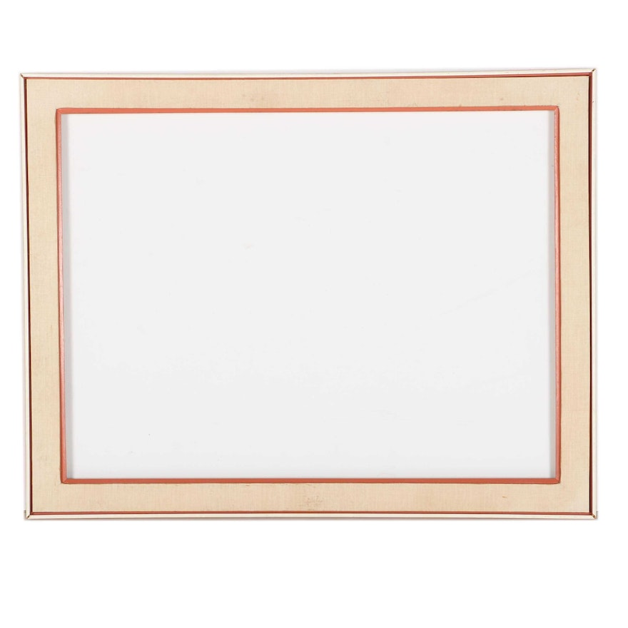 Large Wooden Frame With Canvas Inlay : EBTH