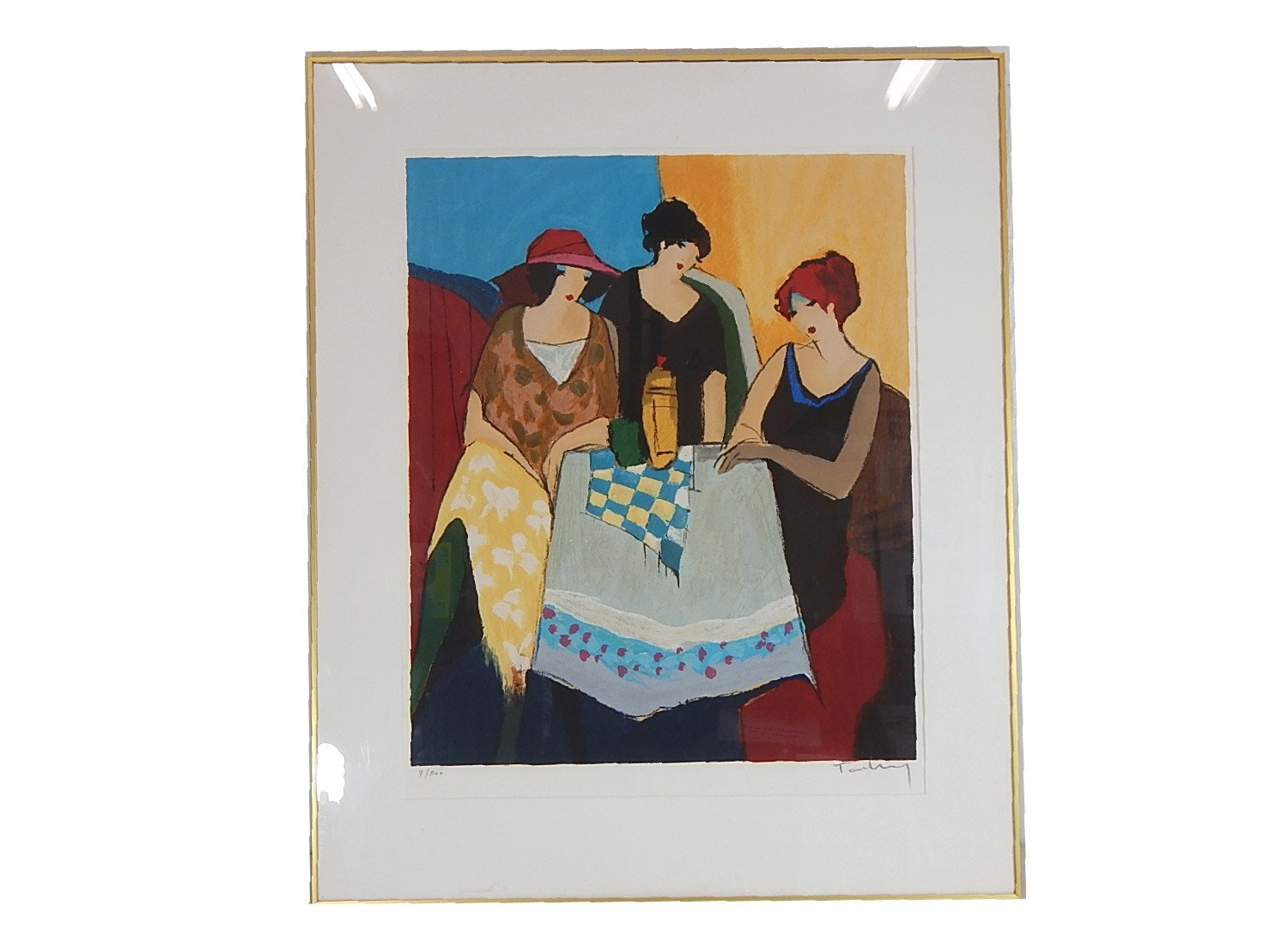 Signed and Numbered Serigraph by Itzchak Tarkay