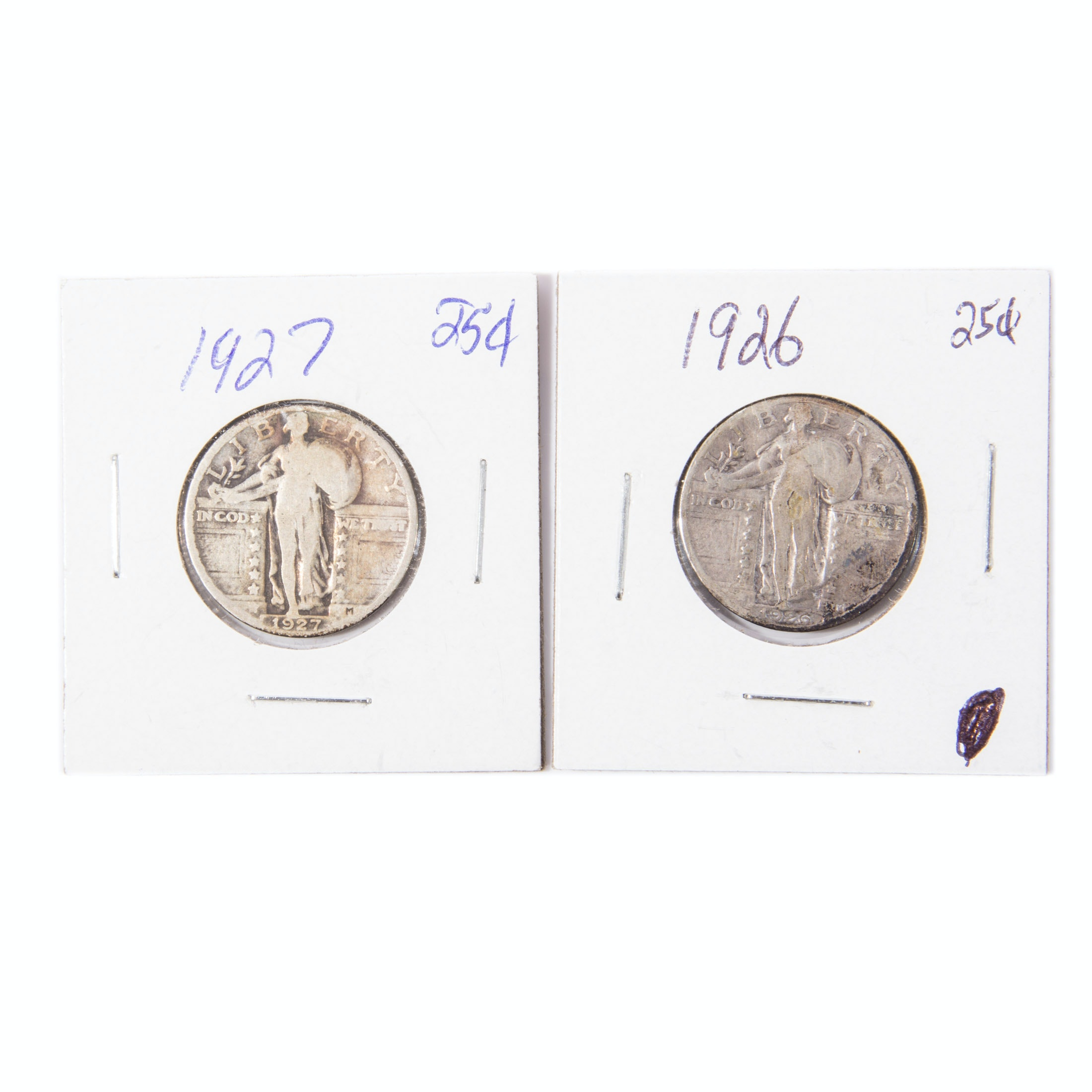 1926 and 1927 Standing Liberty Quarters