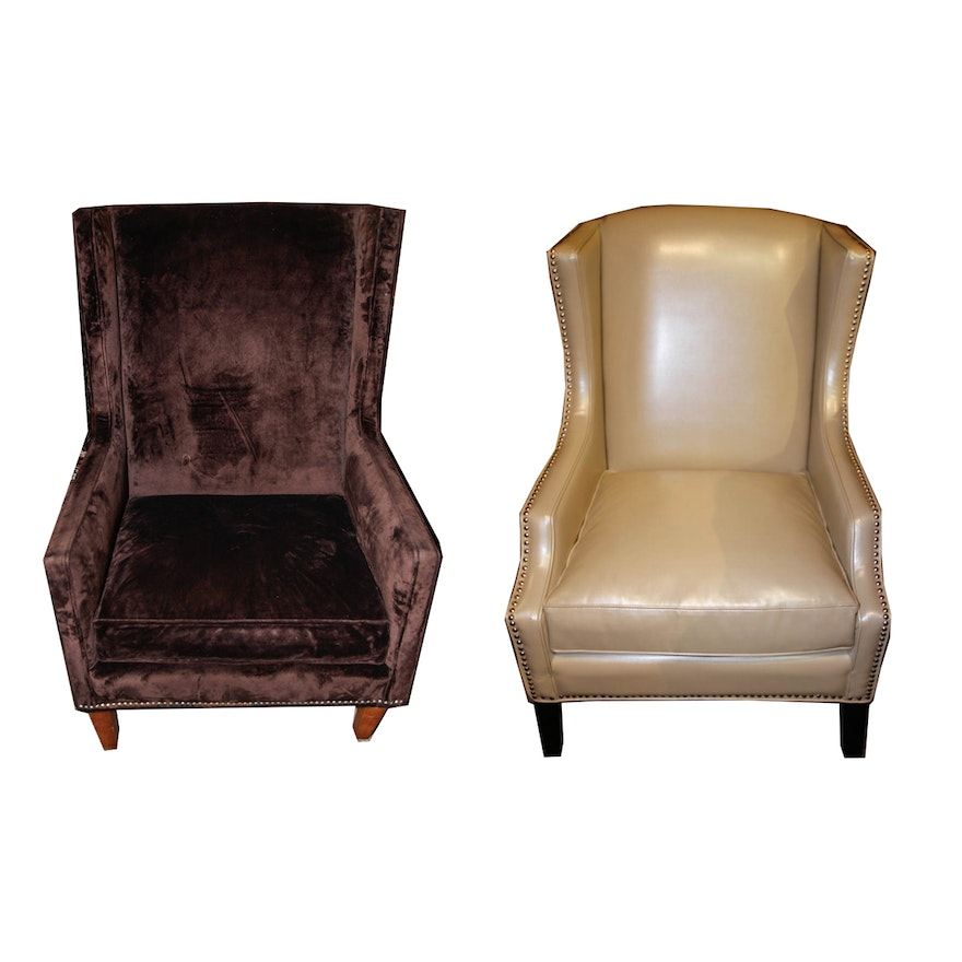 Wondrous White And Purple Faux Leather Studded Club Chairs Beatyapartments Chair Design Images Beatyapartmentscom
