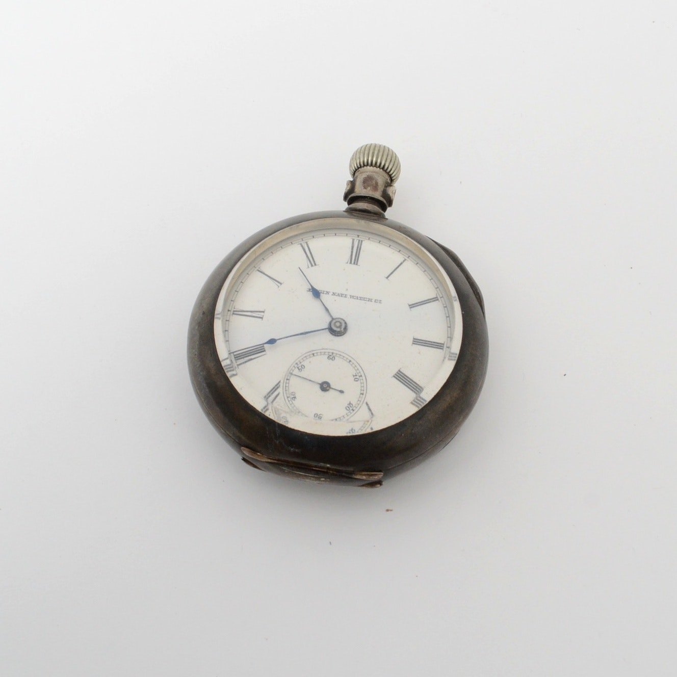 Antique Circa 1887 Elgin Coin Silver Pocket Watch