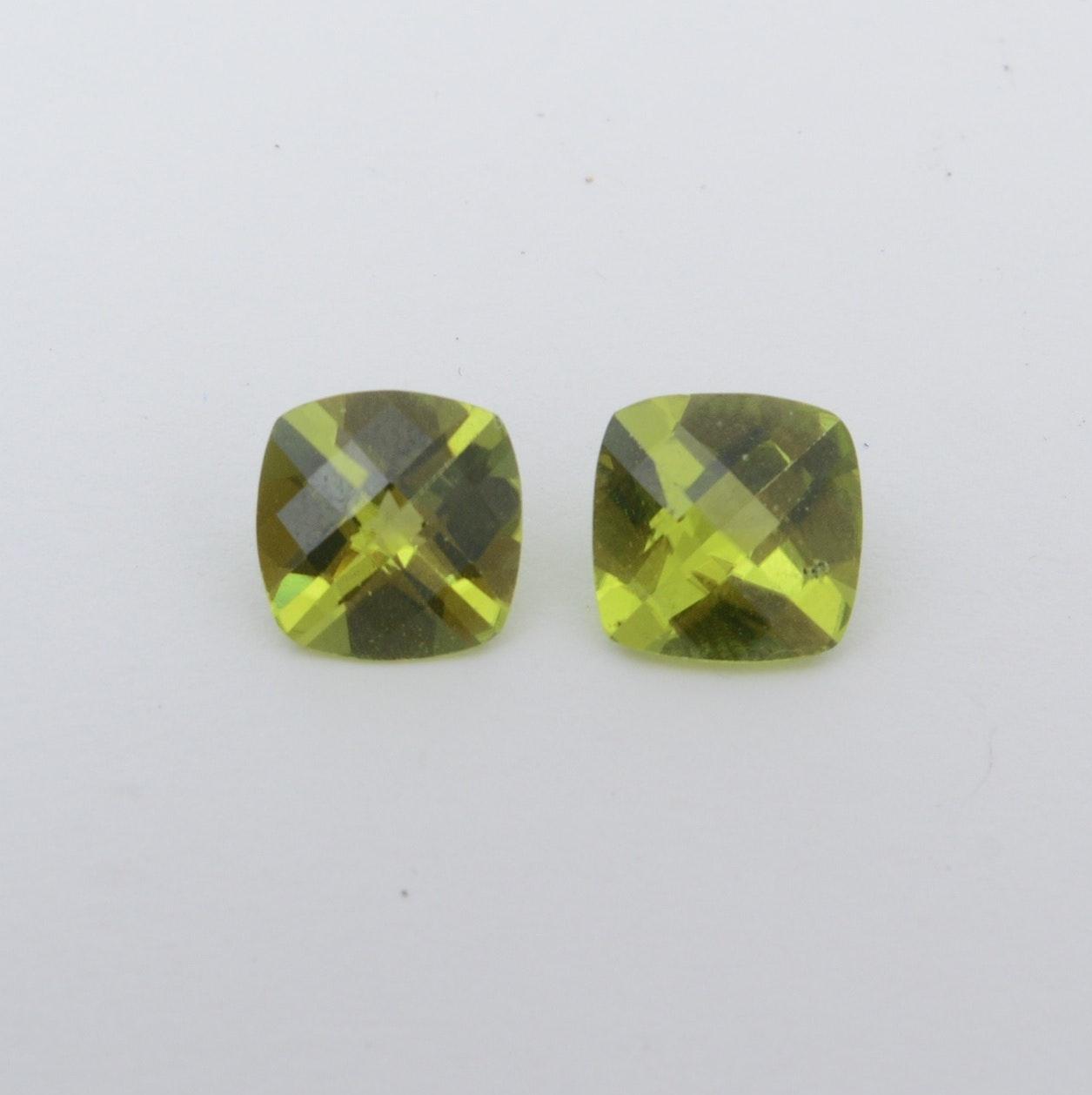 Pair of Peridot Loose Gemstones