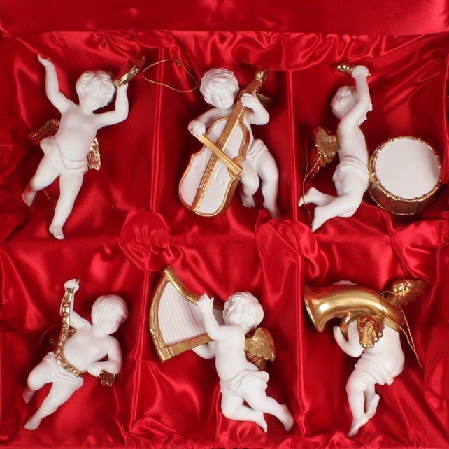 Franklin Mint Heralding Angels Six Piece Collection