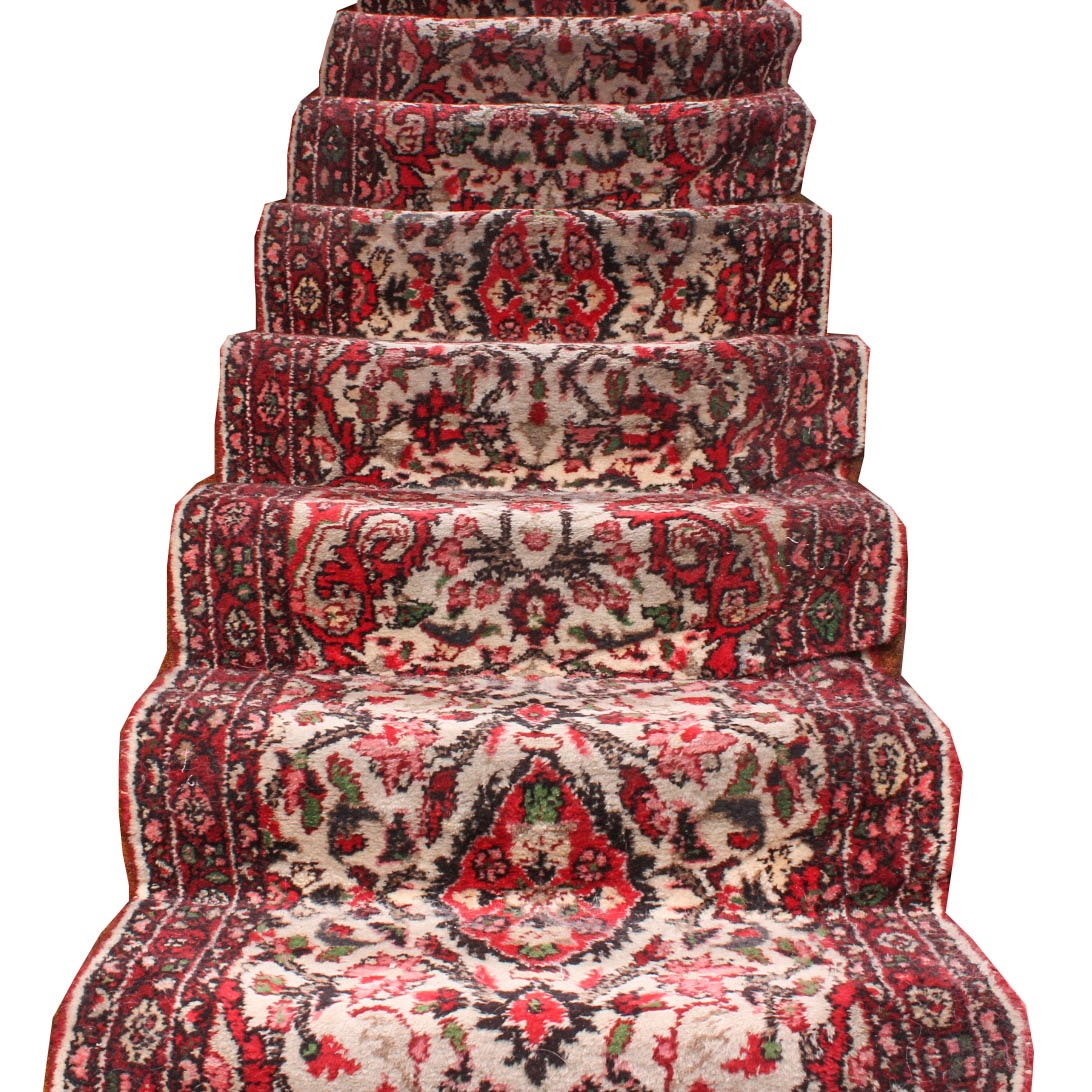 Hand Knotted Persian Staircase Runner Rug
