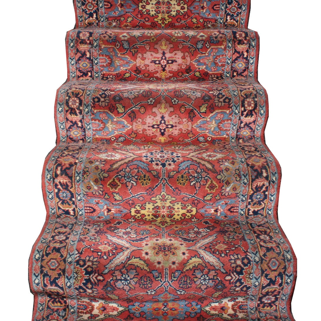 Hand Knotted Persian Arak Stair Runner Rug