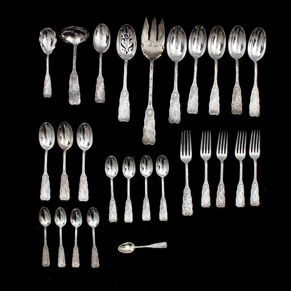 "Antique Gorham Sterling Silver ""St. Cloud"" Flatware"