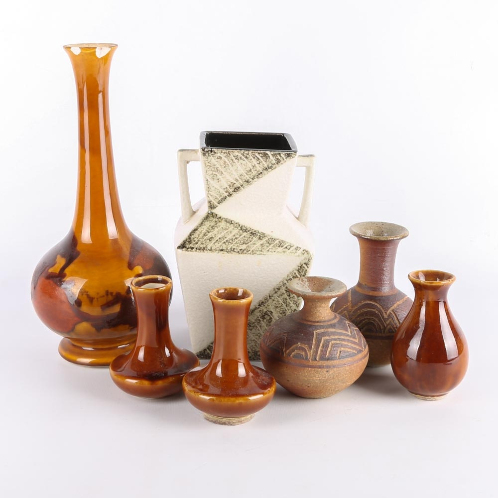 Hand Thrown Pottery Vases