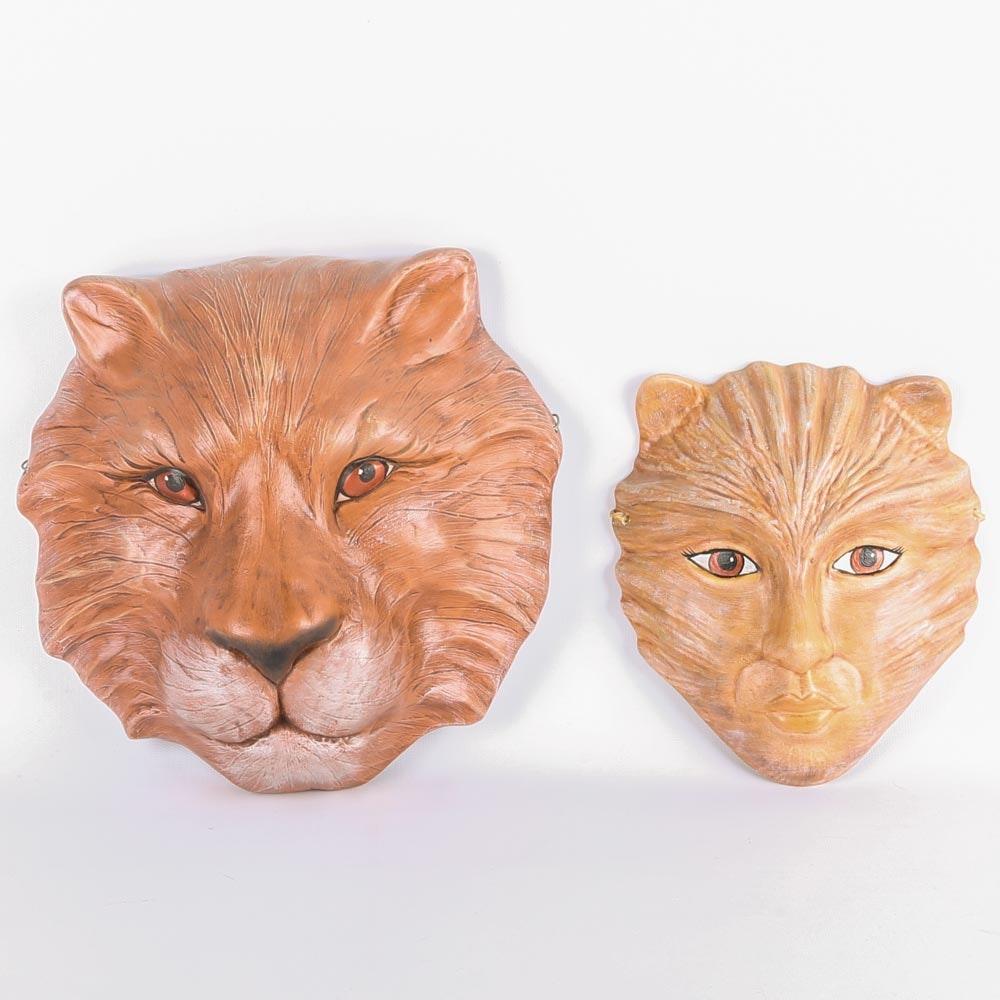 Ceramic Lion Masks