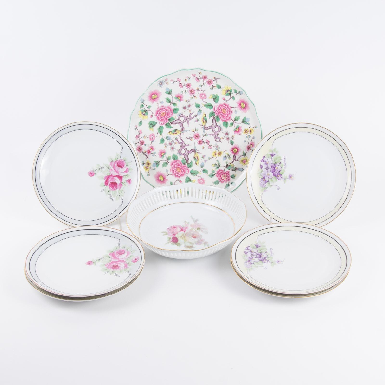 Floral Theme Tableware Set