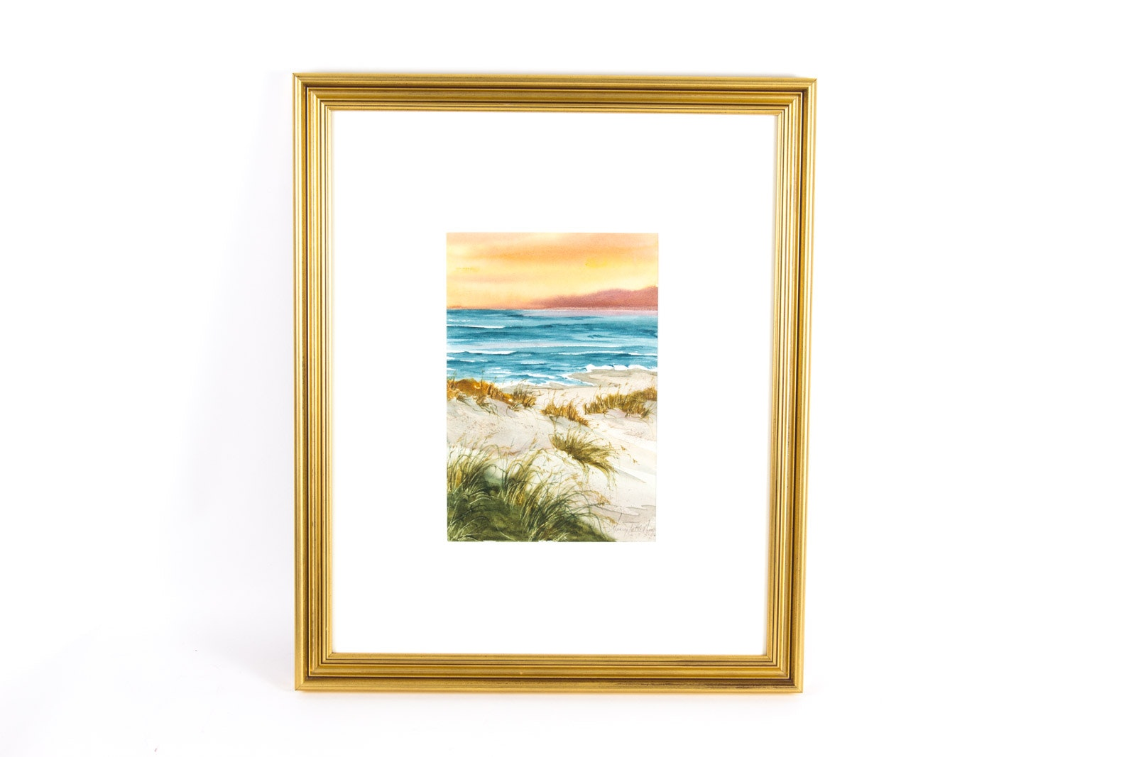 Nancy Tuttle May Original Beach Themed Watercolor Painting on Paper