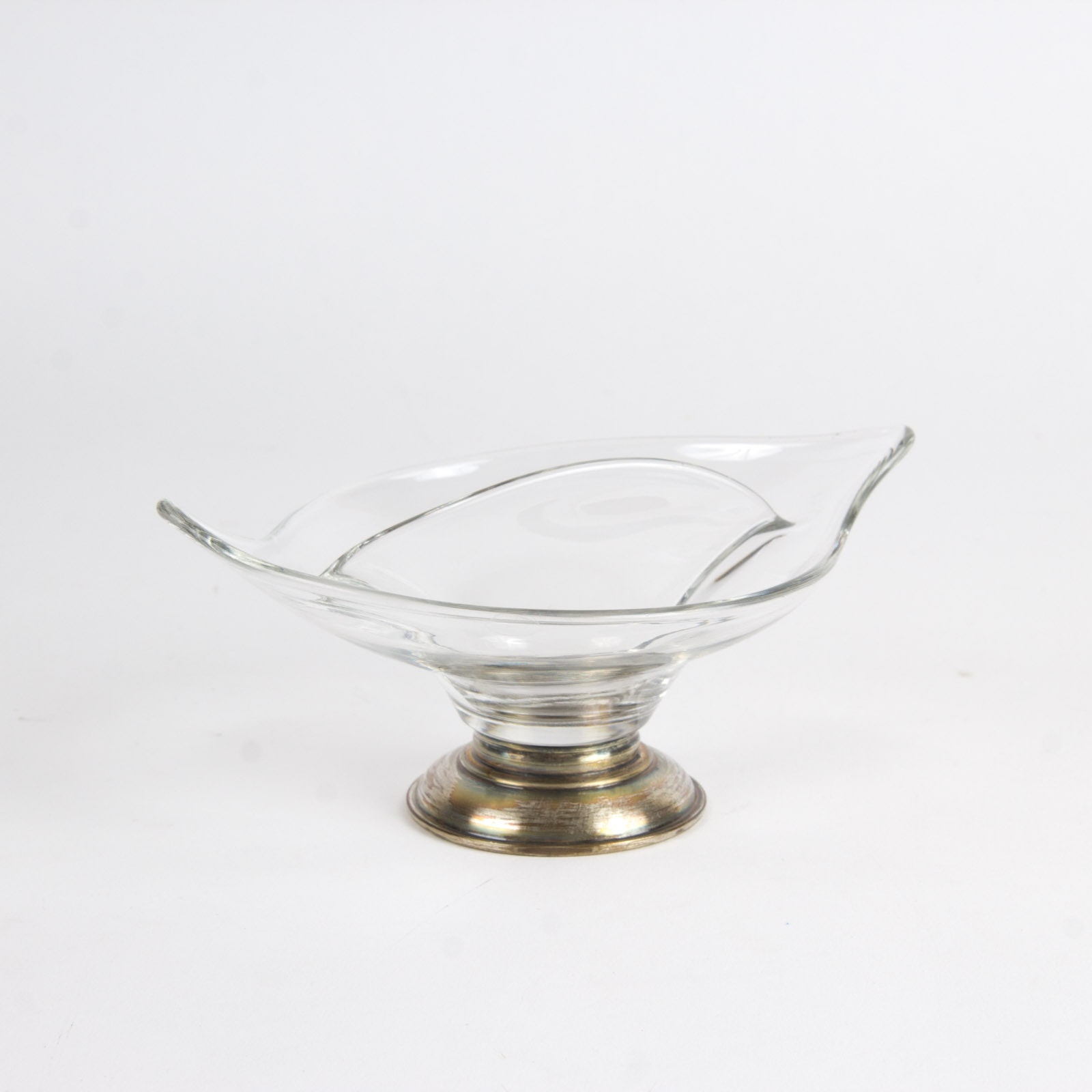 Crown Sterling Silver and Glass Dish