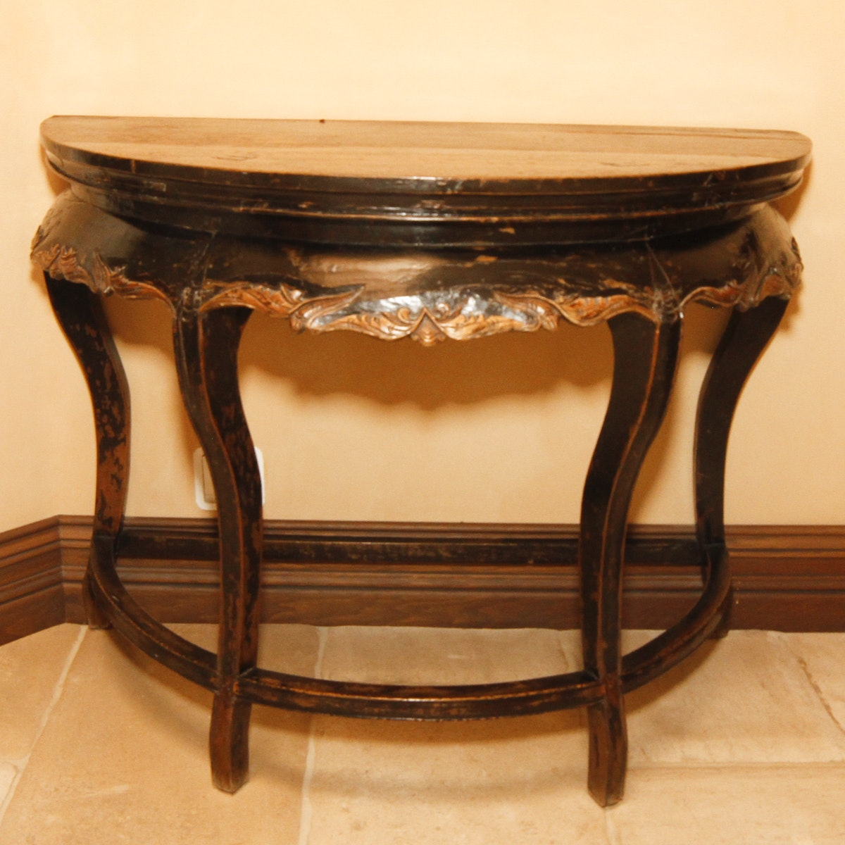 Antique Chinese Demilune Table
