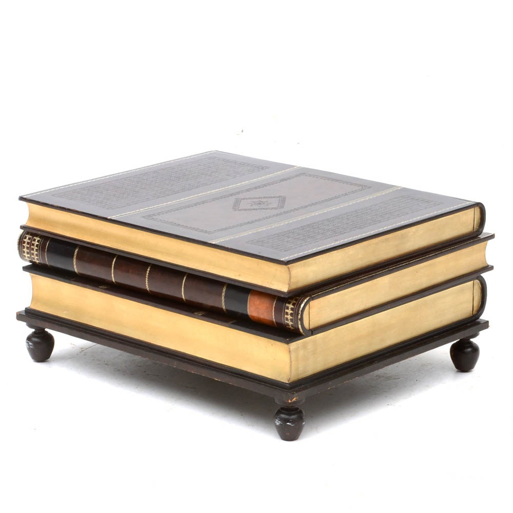 maitland smith stacked book coffee table : ebth