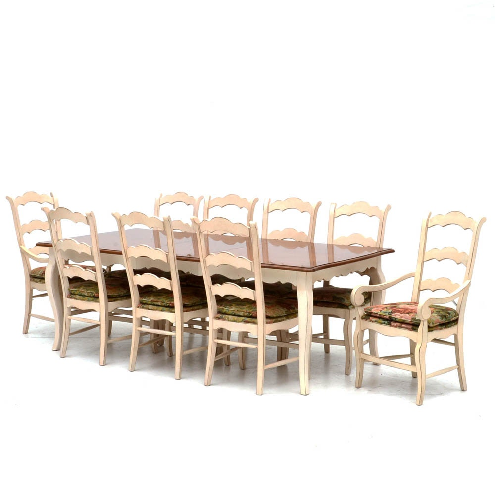 drexel heritage country french style dining set ebth