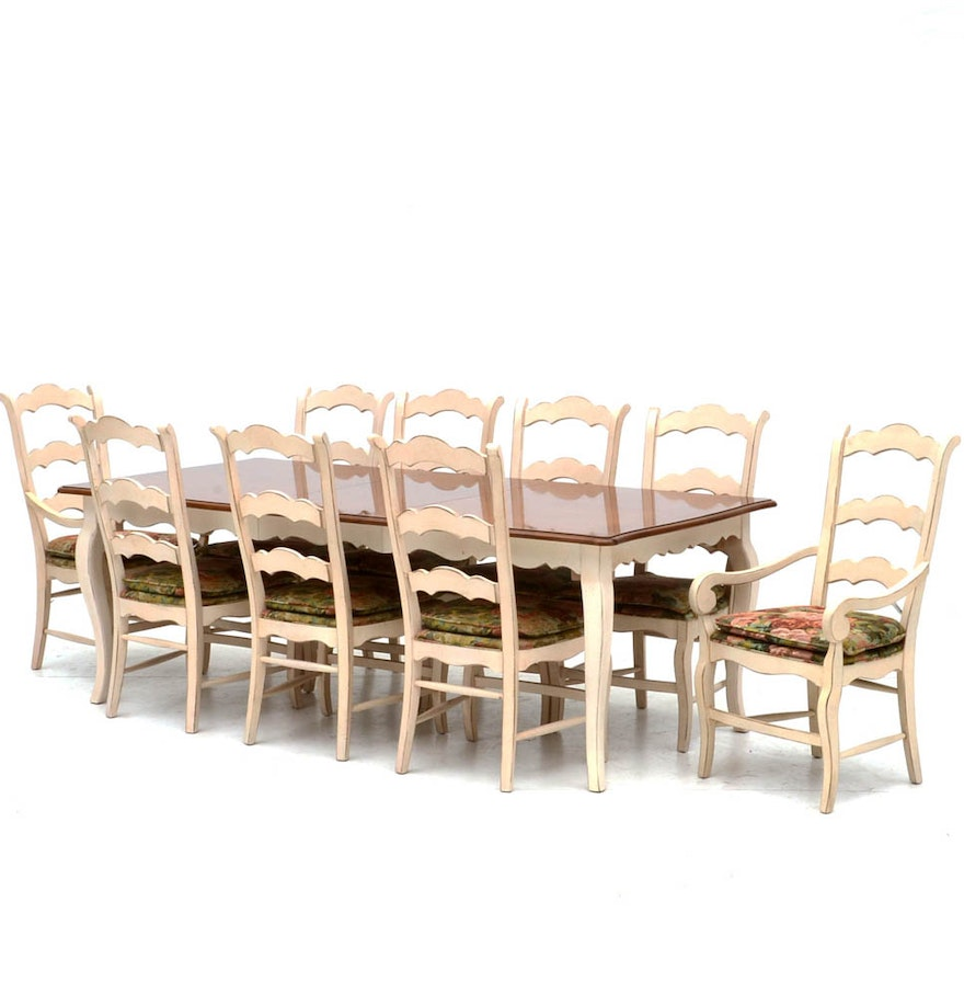 Drexel Heritage Country French Style Dining Set : EBTH