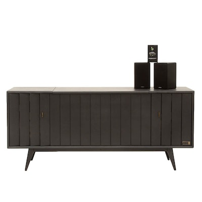 Vintage Converted Bar with Bluetooth Speakers