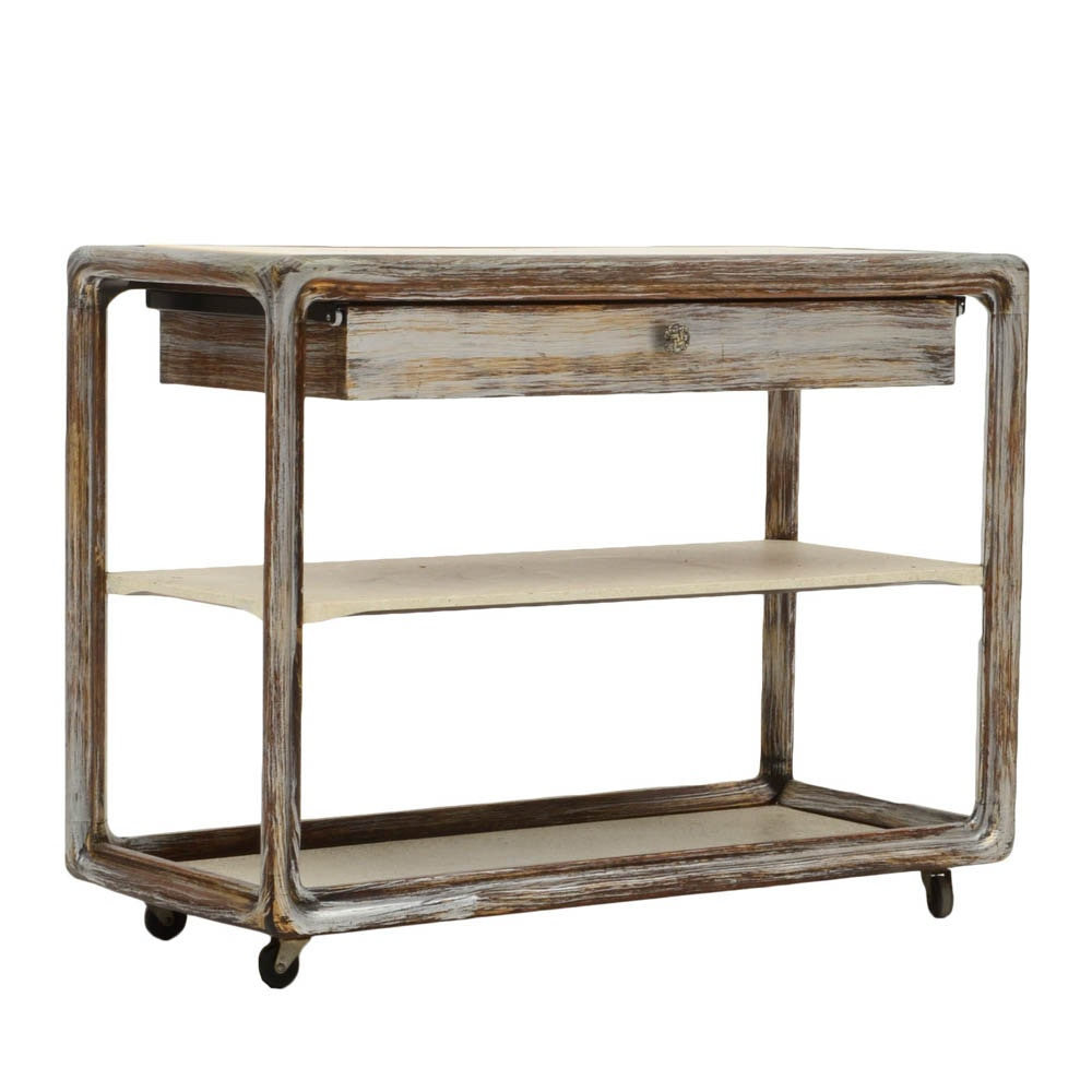 Harold Schwartz for Romweber Oak Serving Cart