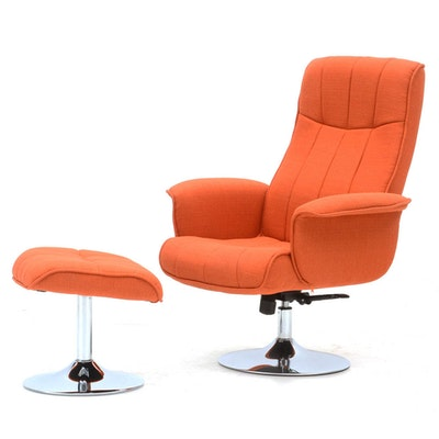 Contemporary Modern Style Lounge Chair with Ottoman