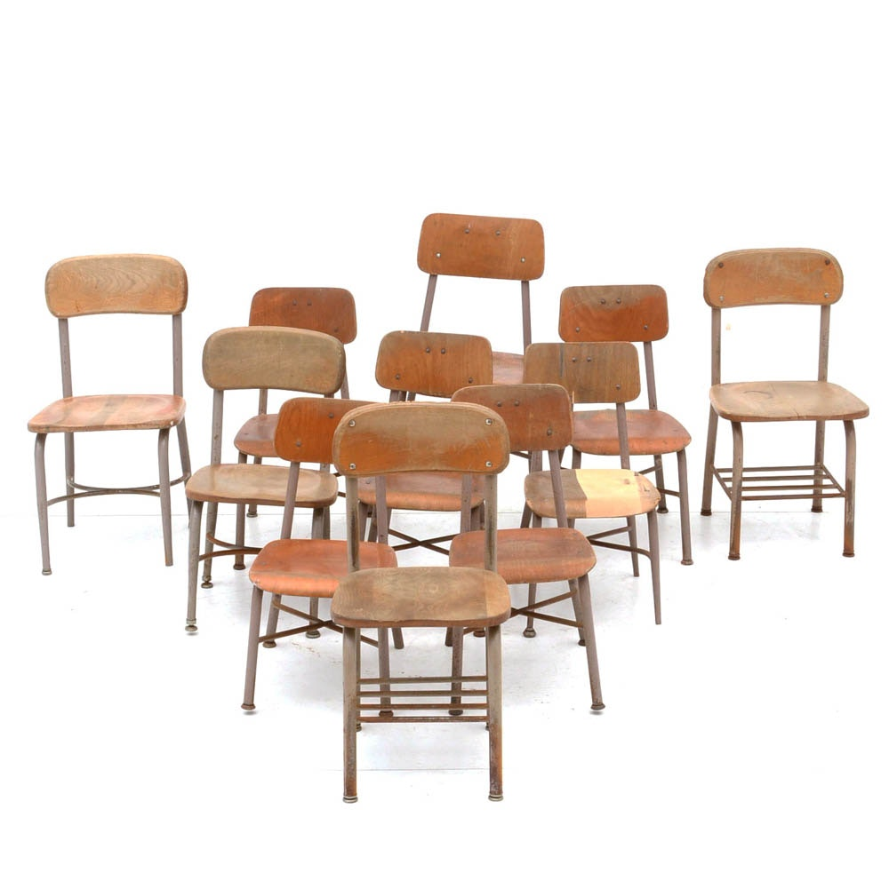 Group of Eleven Heywood Wakefield Chairs