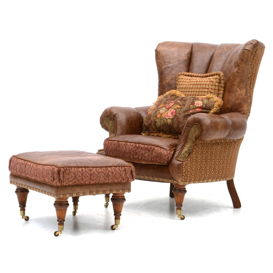 mckinney worth pillow with overstuffed harper arlington fort frisco addison upholstered plano leather coaster arms by chair furniture brown dallas collection