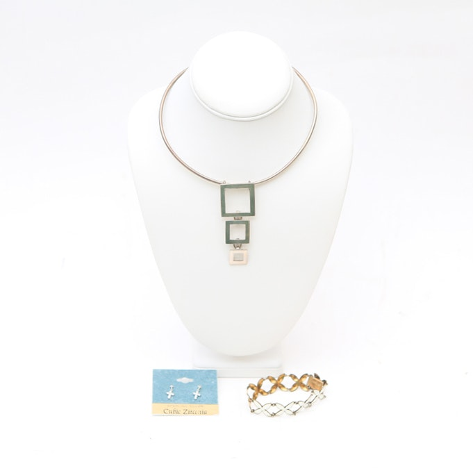 Collection of Sterling Silver Jewelry