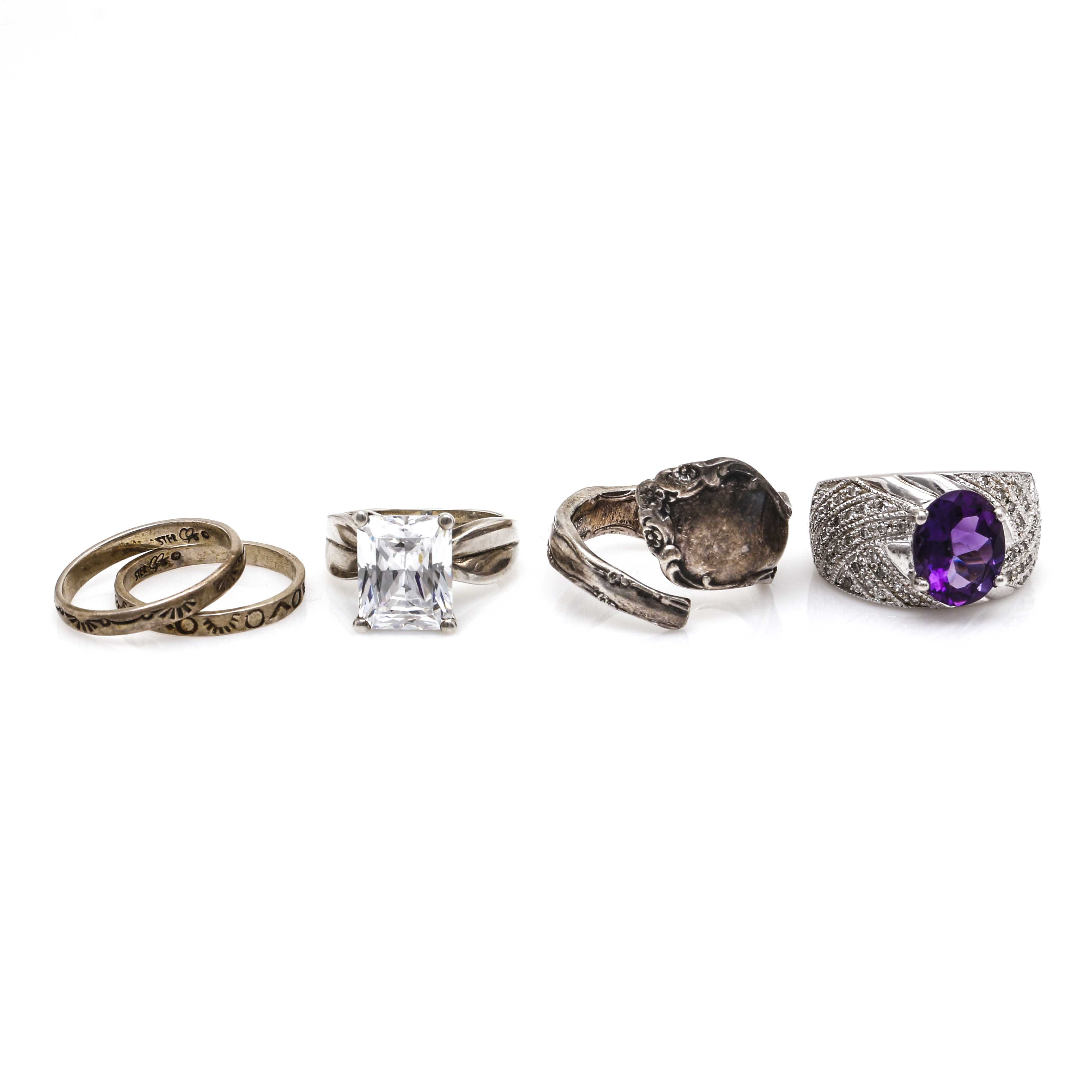 Collection of Sterling Silver Rings