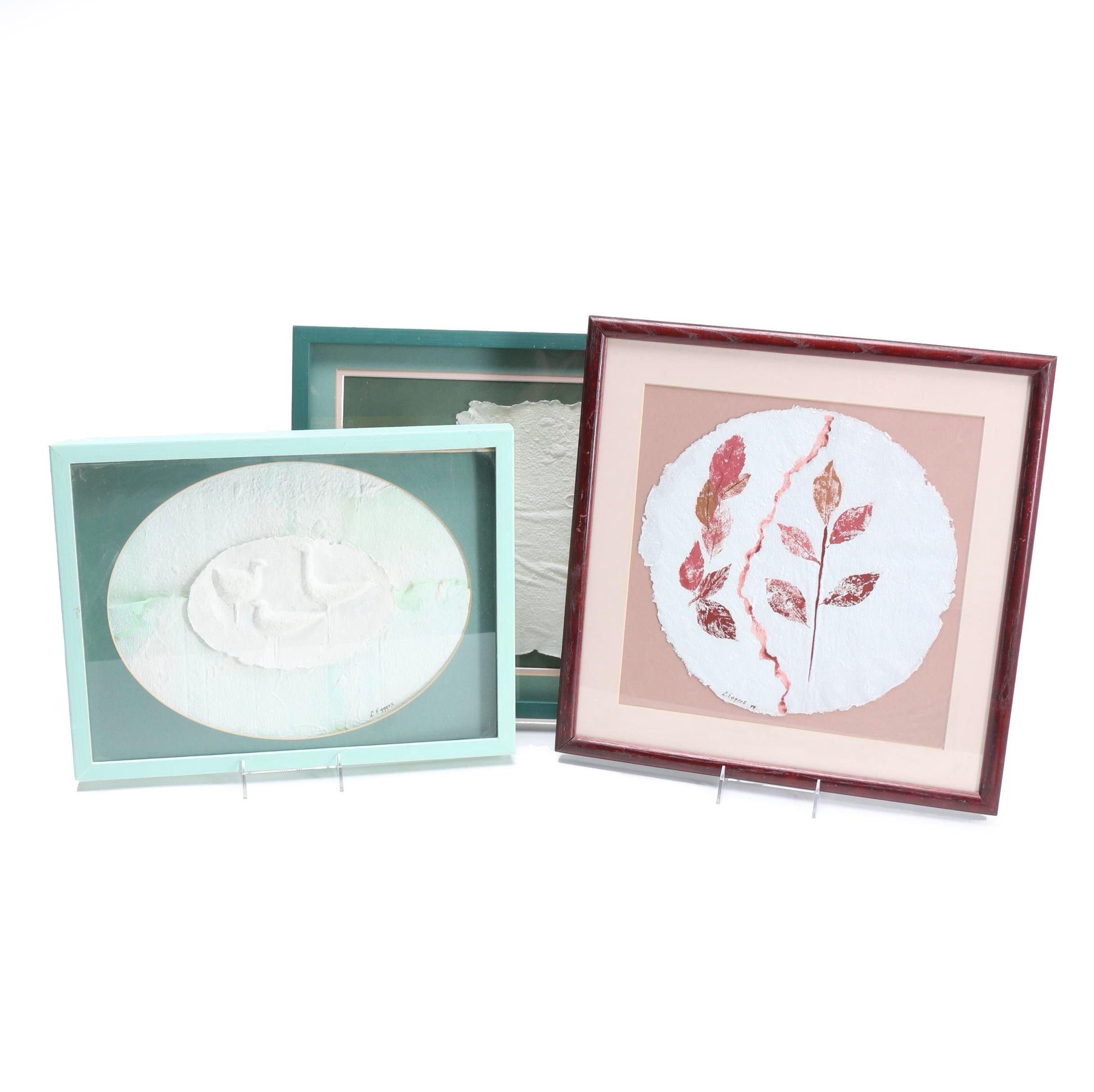 L. Eggers Handmade Rag Paper Reliefs Featuring Nature
