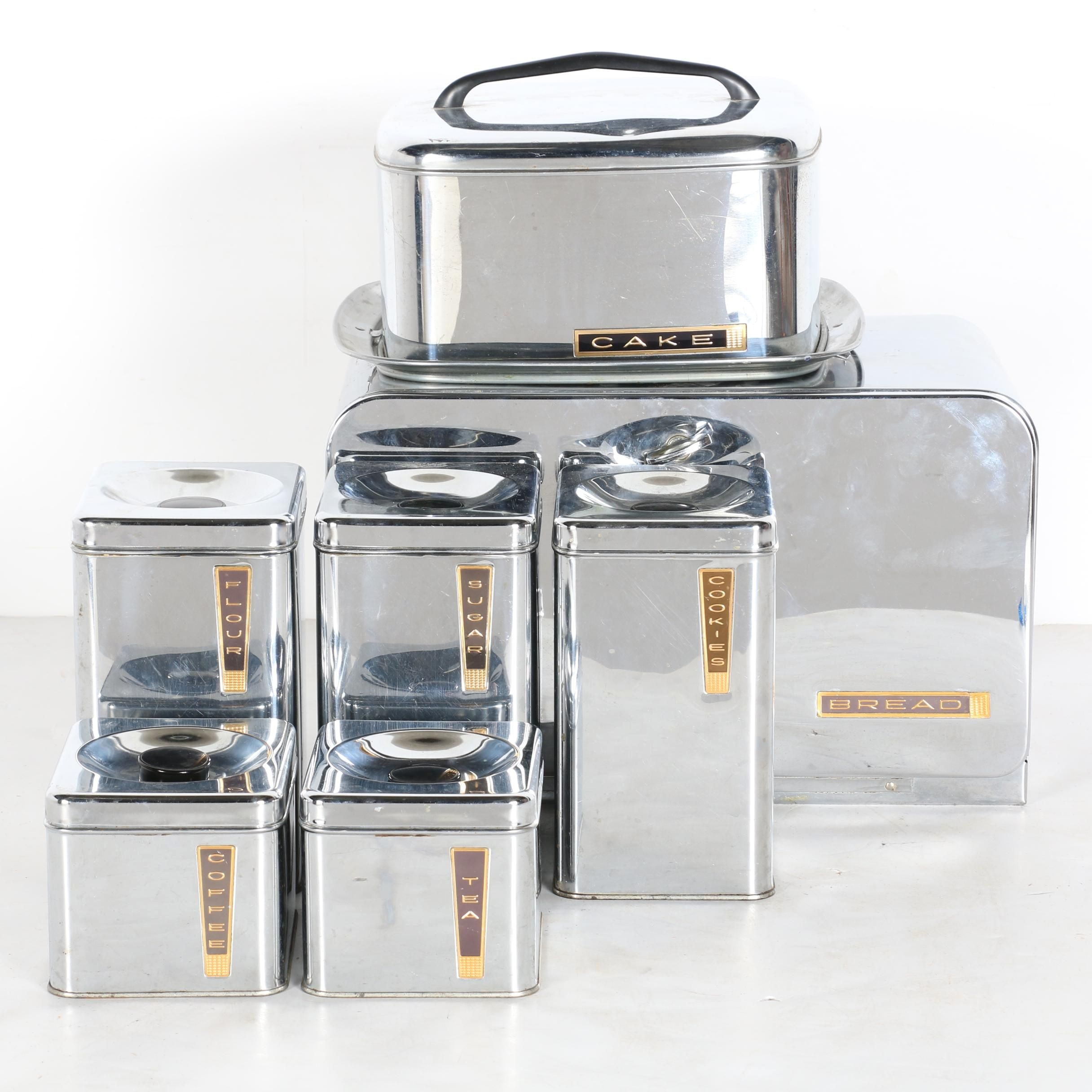 Vintage Lincoln Beauty Ware Aluminum Canister Set