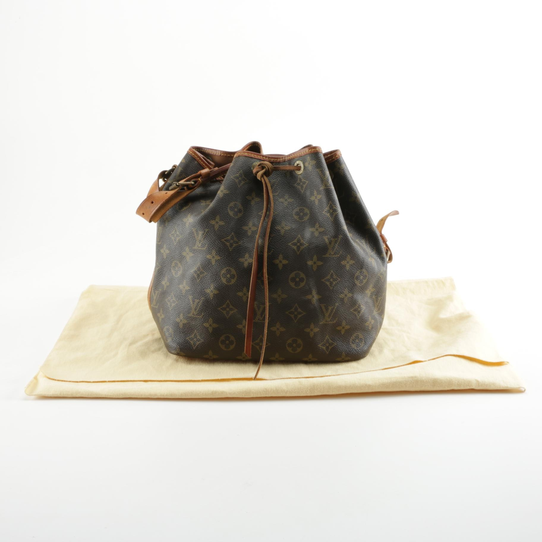 1980s Louis Vuitton Monogram Petit Noe Bag