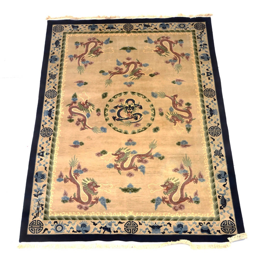 Chinese Hand Woven Wool Area Rug