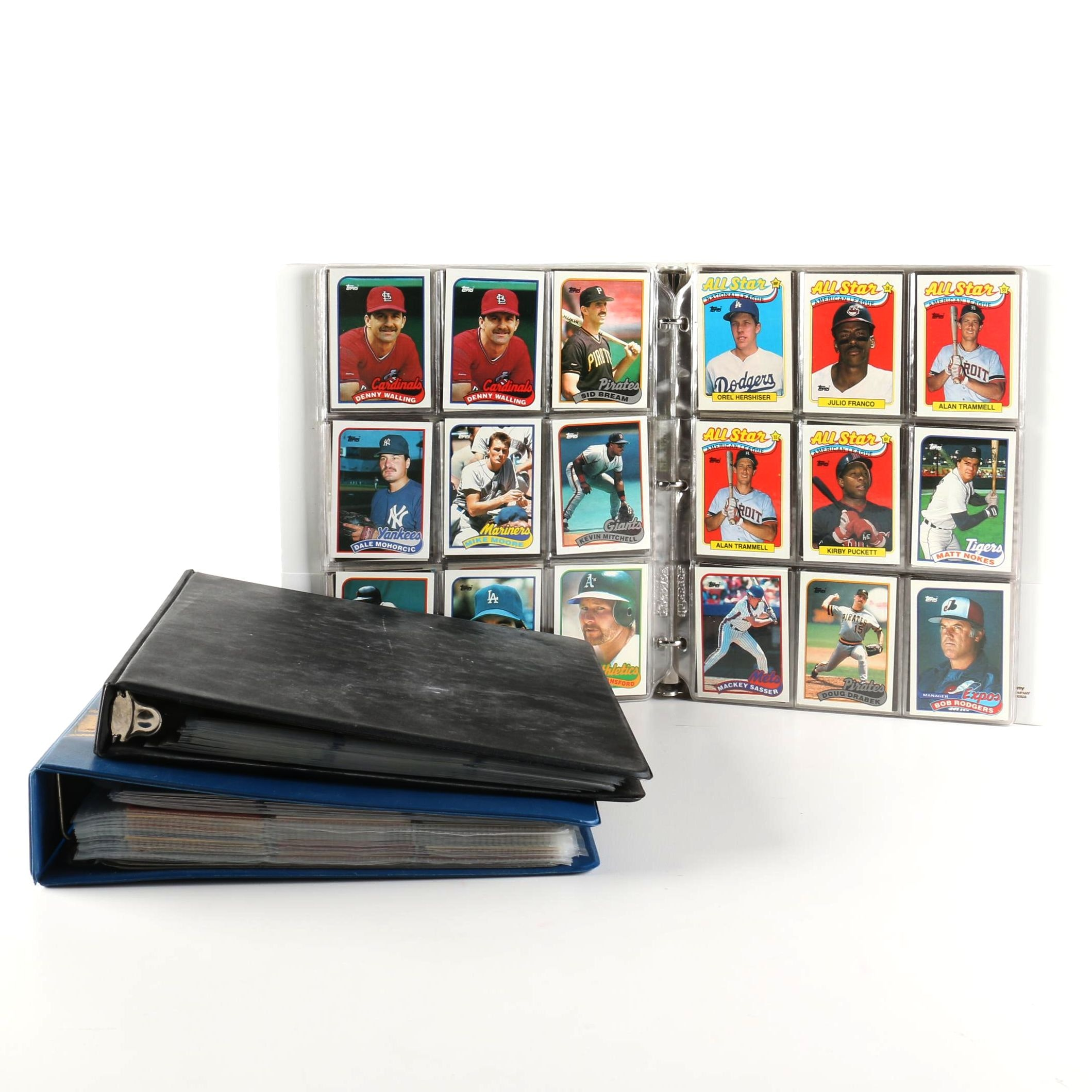 Collection of Baseball Cards Including Topps and Upper Deck