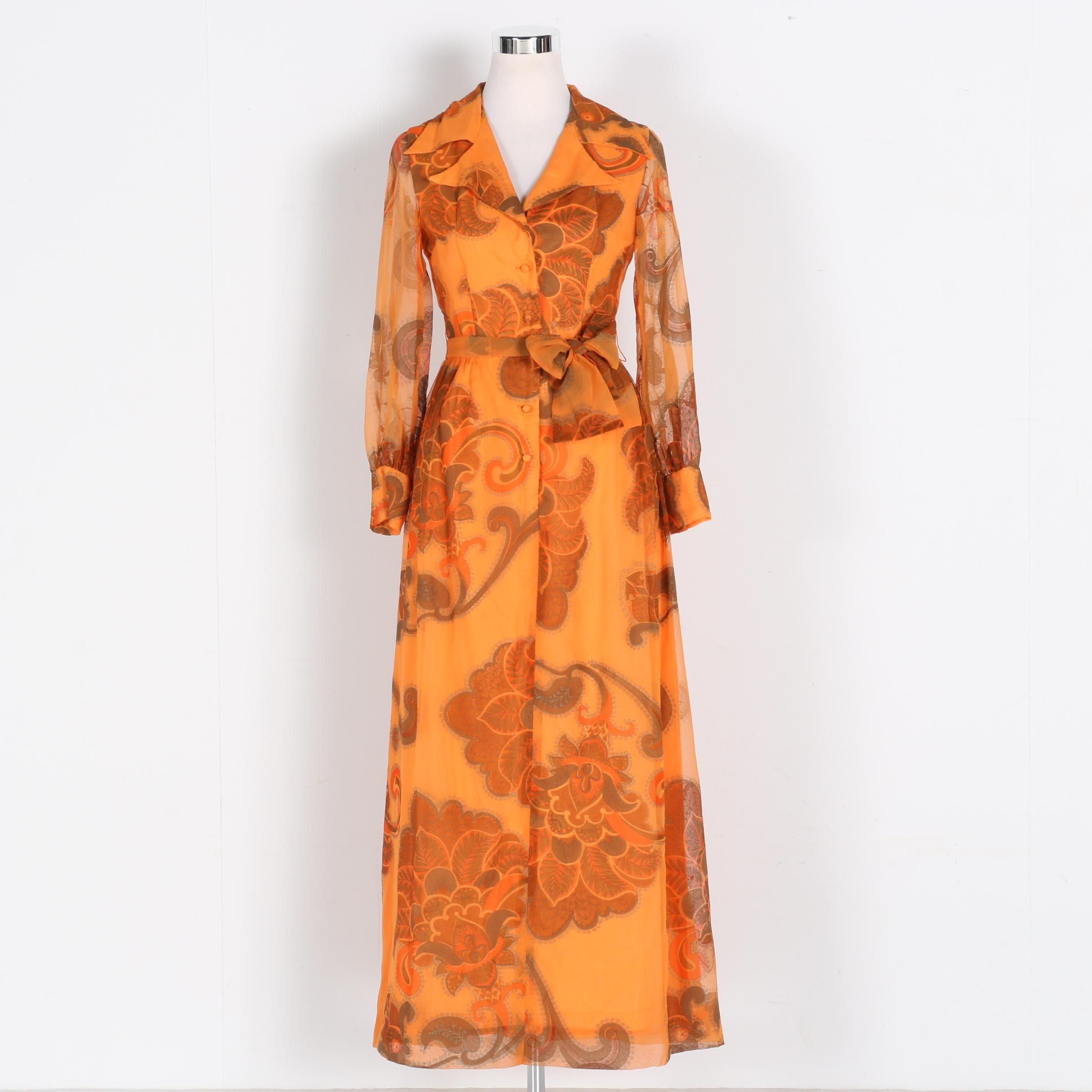 Alfred Shaheen Vintage Organza Dress