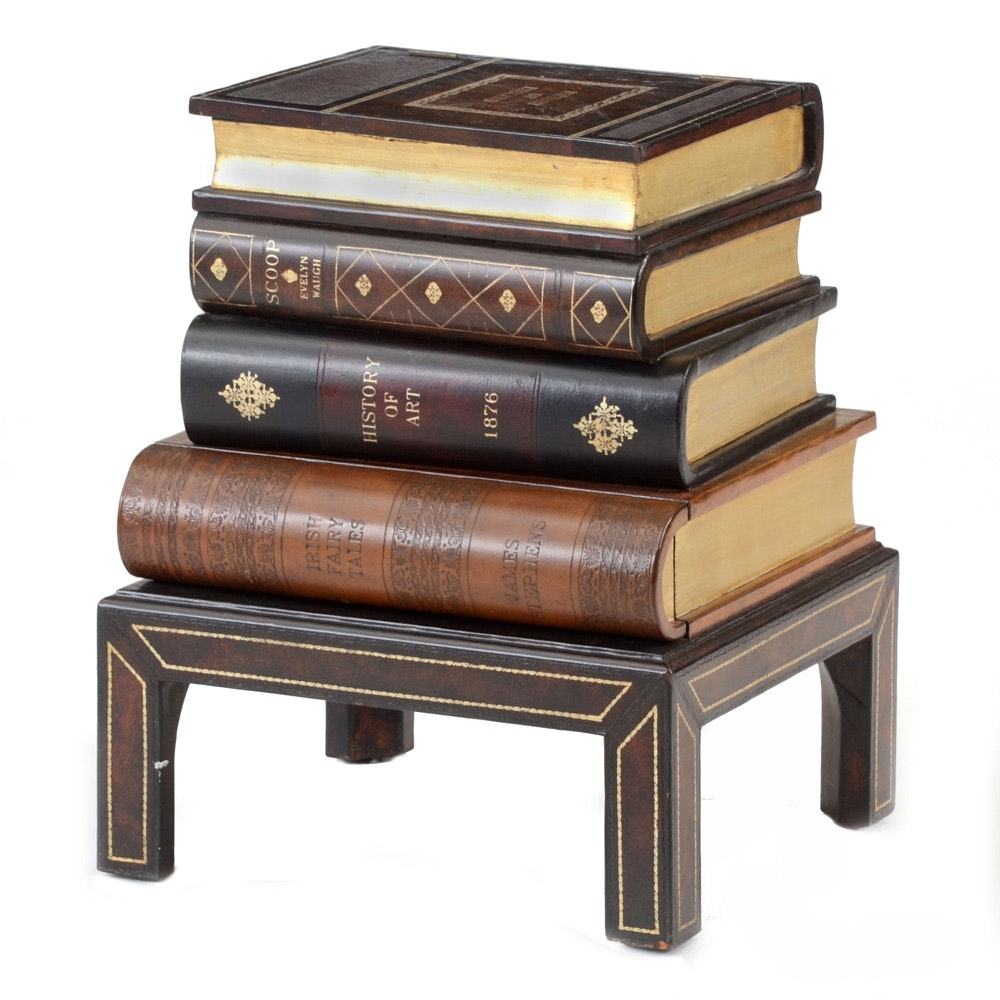 Maitland Smith Stacked Book Side Table ...