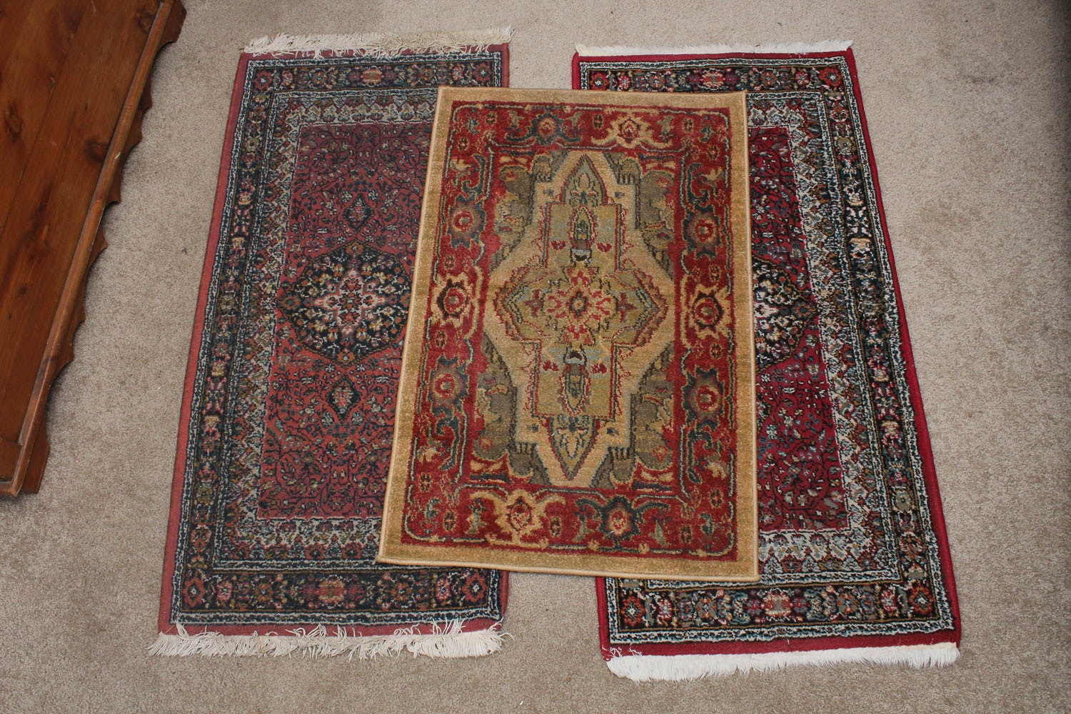 Set of Three Machine Woven Accent Rugs